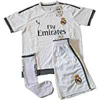 Equipación Infantil Completa Réplica Oficial Real Madrid Temporada 15/16 (Talla 14)