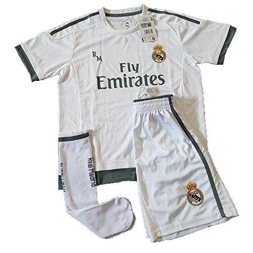 02dd2d33c6 Equipación Infantil Completa Réplica Oficial Real Madrid Temporada 15/16  (Talla 14)