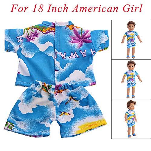 für American Girl Boy Neue Kleidung Puppenkleider (ohne Puppen), Malloom Zubehör Set Spielzeug Puppenkleider Kleiderschrank für 18 Zoll American Boy Girl Dolls