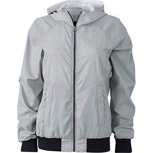 JAMES & NICHOLSON - veste de sport légère - coupe-vent et déperlante - doublée - JN1107 - Femme gris argent