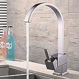 MultiWare Küchenarmatur Wasserhahn Einhand Spüle Wasserfall Spültischarmatur Mischbatterie