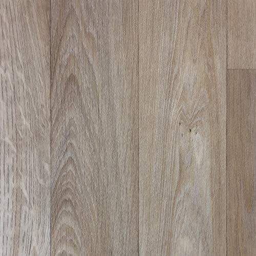 PVC-Boden Paneele in heller Eichen-Optik mit Schaumrücken   Vinylboden 2m Breite & 0,5m Länge   Fußbodenheizung geeignet   PVC Platten strapazierfähig & pflegeleicht er Fußboden-Belag -