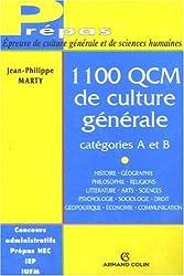 1 100 QCM de culture générale : Catégories A et B