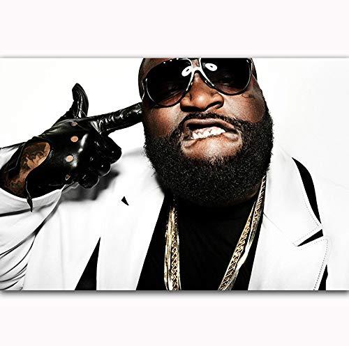NOVELOVE Wandkunst Bild Rick Ross Rap Hip Hop Musik Sänger Star Poster Drucken Leinwand Malerei Ohne Rahmen 40 * 60 cm