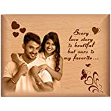 TheLoveMoments - Love Personalised Gift - Wooden Photo Frame By Engraving Process 4 Inch X 5 Inch