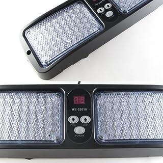Aurnoc LED-Warnlampe mit 86 LEDs, Strobo-Lampe, 12 Einstellungen, verfügbar in Blau / Bernstein / Weiß / Rot / Blau