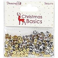 Dovecraft Basics paillettes–Natale, paillettes, oro/argento