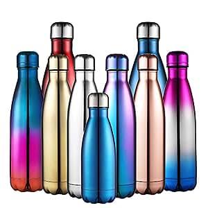 Anjoo Portatile Borraccia in Acciaio Inossidabile, Leggero e Compatto in Bottiglia Termica per Ufficio, All'aperto, Cucina, Campeggio o Sport - 500ml (Porpora)
