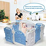 Centro attività Baby Playpen Kids Safety Play yard Home indoor outdoor con 14 pannelli della penna