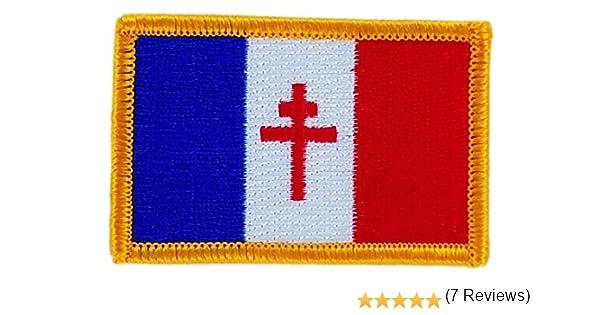 Patch /écusson brod/é drapeau france libre de gaulle thermocollant insigne blason