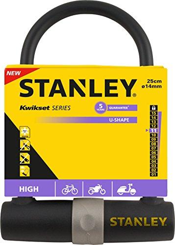 Stanley Fahrradschloss Bügelschloss (14mm x 247 mm, 3 Schlüssel) S755-201 - 2