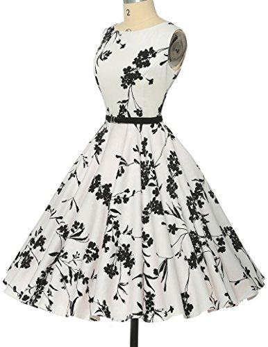 aec6588336c6c6 ... Damen rockabilly kleid 50er jahre kleid Blumenmuster festliche kleider  Sommerkleid Größe M CL6086-11 -