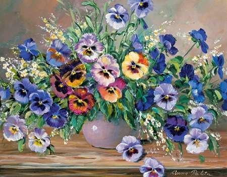 Bouquet Pansy (Bouquet of pansies von Paleta, Anna Kunstdruck auf PAPIER - Klein (51 x 39 cms ))