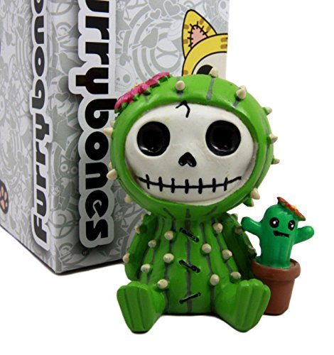 Monster Kostüm Furry - Atlantic Sammlerstücke Furry Bones Desert Kakteen der Prickly Kaktus Kostüm Skelett Monster Collectible Figur 7cm H