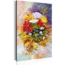 murando Cuadro pintado a mano -100% pintados a mano – fotos directamente del artista - pintura - pinturas de paredes modernas - disenos únicos e irrepetibles – cuadro en lienzo Flores - b-B-0122-b-a – 60x90 cm