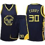 Es un Regalo para los fanáticos de # 30 Stephen Curry Golden State Warriors Conjunto de Baloncesto sin Mangas Summer Top Cool
