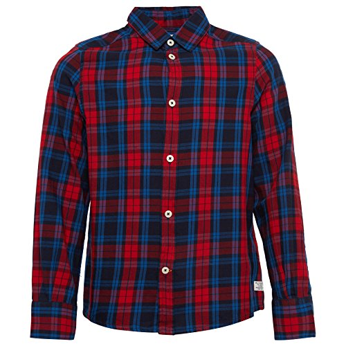 TOM TAILOR Kids Jungen Hemd Basic Check Shirt, Rot (Bright Cherry Red 4520), 176 (Twill-jungen Shirt)
