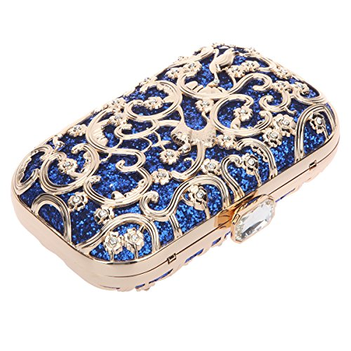 Bonjanvye Bird Print Purses and Handbags for Women Speacial Hand Clutch for Ladies Mint Blue