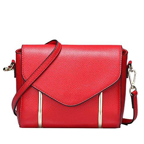Yy.f Neue Umhängetasche Geprägte Leder Handtaschen Taschen Messenger Erste Schicht Aus Leder Mehrfarben- Purple