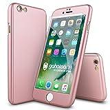 CASYLT® iPhone 6 / 6s Hülle 360 Grad Fullbody Case [inkl. 2X Panzerglas] Premium Komplettschutz Handyhülle Roségold