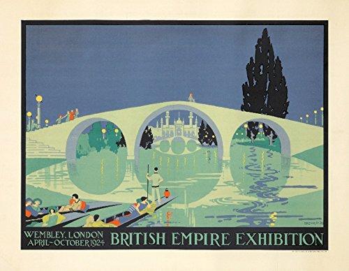 Britische Empire Exhibition Vintage Poster (Künstler: Beard) UK c. 1924, Papier, multi, 24 x 36 Giclee Print - Britische Vintage-print