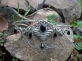 Dark Dreams Gothic Mittelalter Fantasy Larp Diadem Stirnschmuck Stirnreif Tiara Mawia, Farbe:schwarz - 2