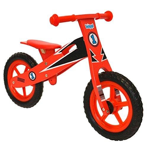 Vélo en bois boppi® pour développer l'équilibre de 2 à 5 ans Coureur Rouge