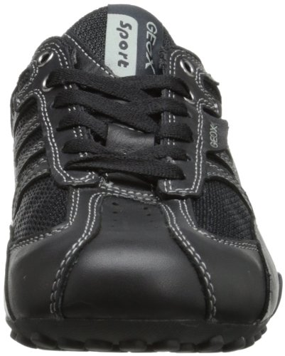 Geox Uomo Snake K, Baskets Basses Homme Schwarz (BLACK/LEADC9204)