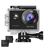MGCOOL Pro Action Camera 16MP 4K/30fps Video WiFi Underwater Sports Cam 170° Visual Wide Angle Lens with SONY Sensor, Waterproof Case, 2 Rechargeable Batteries-Black