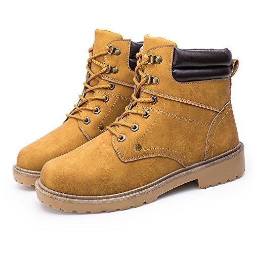 Beikoard -20% stivali estivi stivali bassi da uomo con montatura bassa alla caviglia stivali invernali autunnali scarpe casual martin(giallo,45)