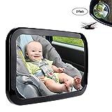 Rücksitzspiegel für Babys, MAIKEHIGH Bruchsicherer Acrylrücksitzspiegel für Auto, Sicherheit und 360 Grad Einstellbarkeit FREIES Geschenk-blinder Stellen-Spiegel