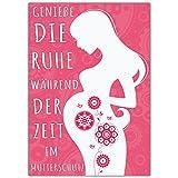 A4 XXL Abschiedskarte MUTTERSCHUTZ mit Umschlag - Klappkarte für Kollegin Mitarbeiterin Chefin zur Mutterschaft Babypause Elternzeit von BREITENWERK