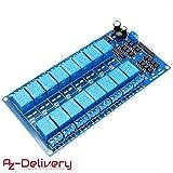 AZDelivery ⭐⭐⭐⭐⭐ 16-Relais Modul 12V mit Optokoppler Low-Level-Trigger für Arduino