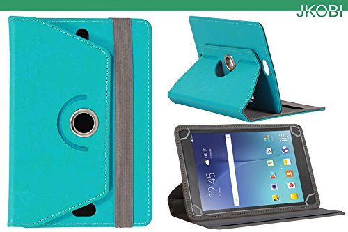 Jkobi 360* Rotating Front Back Tablet Book Flip Flap Case Cover Compatible For Samsung Galaxy Tab 3 V -Cyan  available at amazon for Rs.210