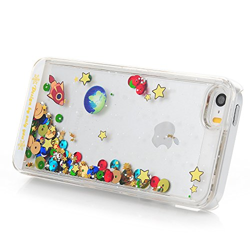 YOKIRIN iPhone 5 Hülle, iPhone 5 / 5S Case Cover Premium Sternenhimmel Flüssigkeit Treibsand Design Hartplastik PC Hardcase Handyhülle Schutzhülle Handytasche Crystal Clear Etui Bumper Cover(Transpare Transparente