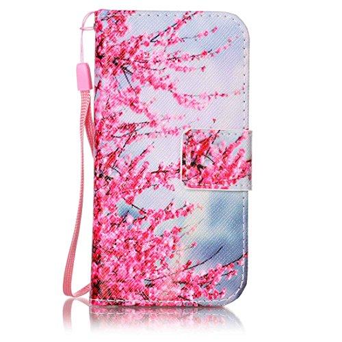 Produktbild Nancen Apple iPod Touch 5 / Touch 6 (4 Zoll) Hülle Case Handyhülle Brieftasche Etui Lederhülle Schutzhülle Abdeckung Bookstyle Klappcase mit 2 Kartenslots 1 Wallet Tasche Handgelenk Seil