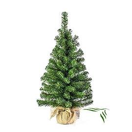 86feb2e193 Mini albero di Natale VARSAVIA, verde, sacco di iuta, 90 cm, Ø 50 cm –  Albero tessile / Abete di Natale – artplants