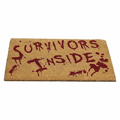 Überlebende drinnen, blutbefleckte Fußmatte braun - Fantasy - Nemesis Now (Lustige Halloween Kostüme Für Arbeit)