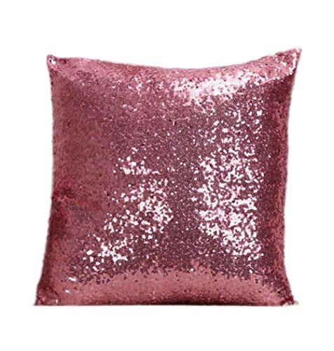 Cosanter Kissenbezug mit glitzernden Pailletten, rosa