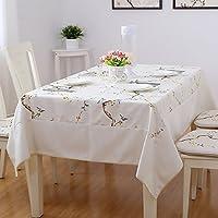 ZWL Broderie Rectangulaire Table basse Linge de lit en imitation Drap Ralph Lauren Nappe en tissu , Ajoutez de la vitalité à la cuisine ( Couleur : #4 , taille : 140*200CM )