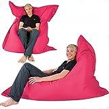 Hi-BagZ - Puff gigante tipo tumbona para exteriores (4 posiciones, impermeable), color violeta, rosa, 180 x 140 cm