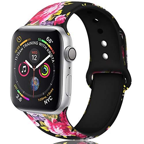 Zekapu Floral Correas Compatible Apple Watch 38mm