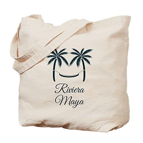 CafePress-Palmen Riviera Maya T-Shirt-Leinwand Natur Tasche, Reinigungstuch Einkaufstasche Tote S khaki