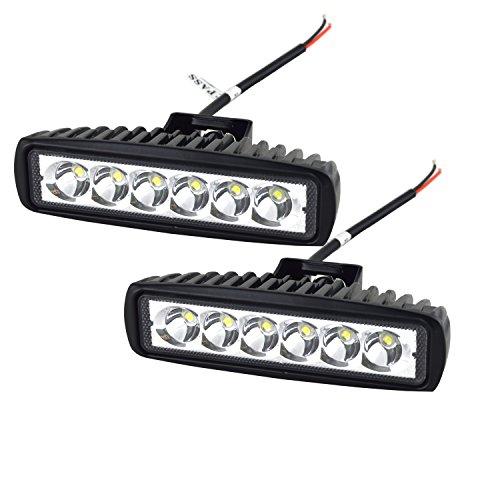 Auxtings - 2 faretti a LED fendinebbia con fascio ristretto da 18 W per fuoristrada, camion, SUV, 4WD