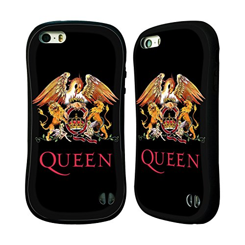 Head Case Designs Offizielle Queen Wappen Kunst Hybrid Hülle für Apple iPhone 5/5s/SE (Queen-hybrid)