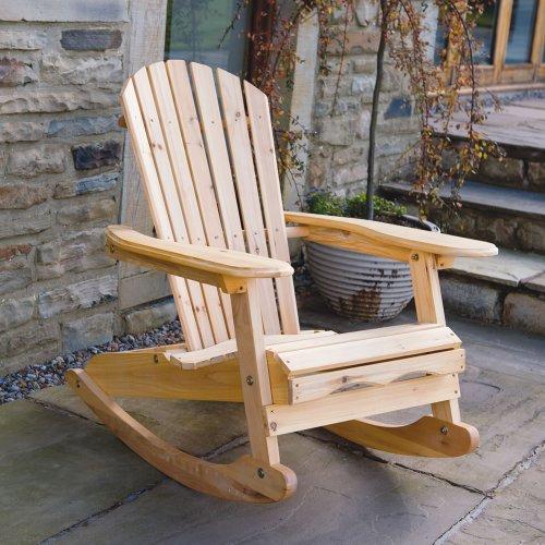 Trueshopping 'Bowland' Holzschaukelstuhl für den Garten