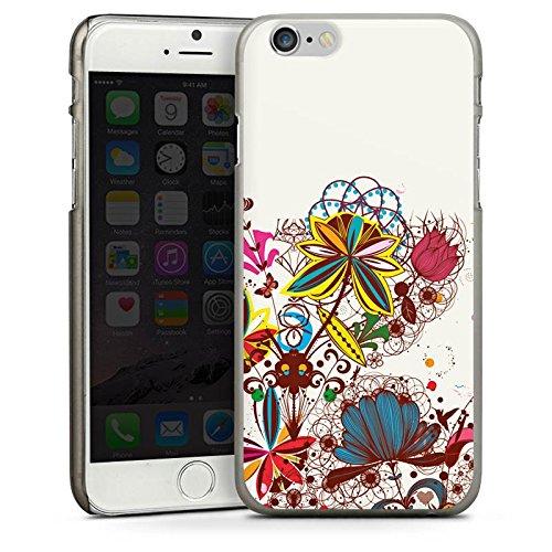 Apple iPhone 4 Housse Étui Silicone Coque Protection Printemps Fleurs Fleurs CasDur anthracite clair