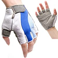 YXNN Cycling Gloves - Wrist Support Training - Gym Weightlifting Gloves Fitness Fitness Bodybuilding Breathable Half Finger Gloves (Size : L)