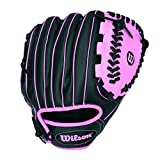 Wilson Sporting Goods Co. A200 10' Right-Hand Baseball Glove 10' Negro, Rosa - Guantes de béisbol