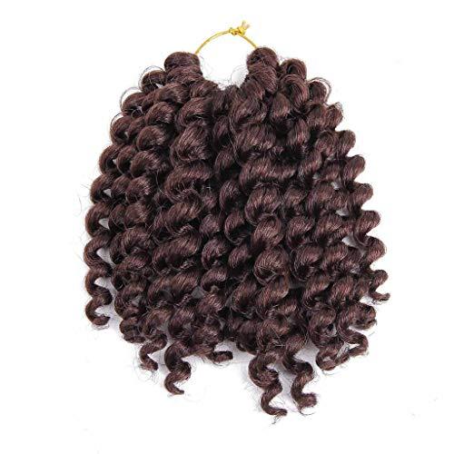 Körper-wellen-haar-verlängerung (Luckhome perücken für Frauen brasilianischen jungfräuliches Haar körper Welle perücke Mode hübsche Frau Mädchen Farbverlauf Twist Häkeln Zöpfe Extensions Perücken(B))